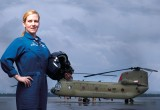 Megan Robertson, Chinook helicopter pilot